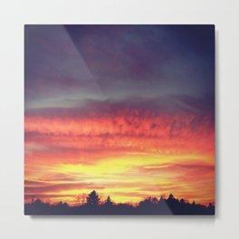 Northern Sunset. Metal Print
