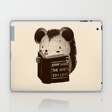 Hedgehog Book Don't Hurt The Ones You Love Laptop & iPad Skin