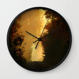 Into the Light, Landscape Art Wall Clock
