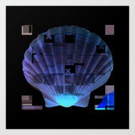 Cross Collage Prints Sea Shell Art Print