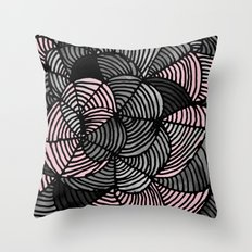 Abstract Pattern - Gray & Pink Throw Pillow