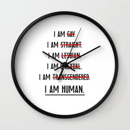 Human rights | against discrimination LGBT Wall Clock