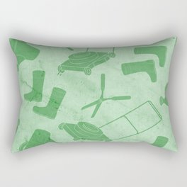 GARDEN TOOL KIT PATTERN Rectangular Pillow