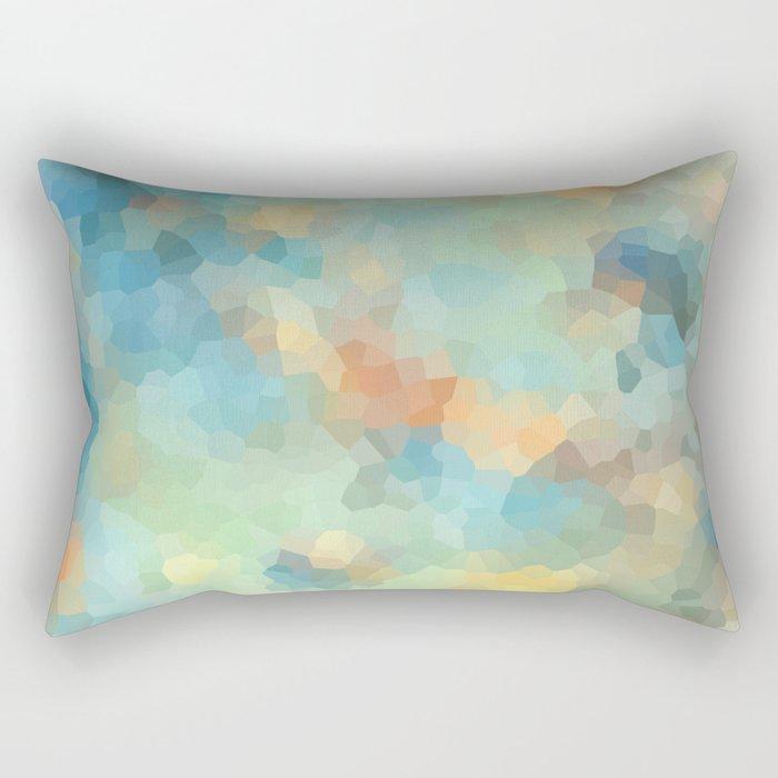 """Colored crystals . """"Sunbeams"""" . Rectangular Pillow"""