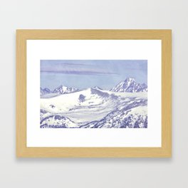Cold Mountain Framed Art Print