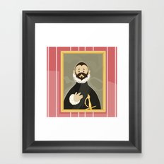 Nobleman with his Hand on his Chest by Greco Framed Art Print