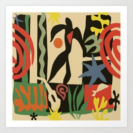 Inspired to Matisse (vintage) Art Print