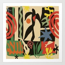 Inspired to Matisse (vintage) Kunstdrucke
