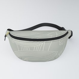 Minimalist Blue Whale Fanny Pack