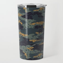 Green Leopard Camouflage Travel Mug