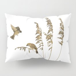 Tall Grass and Sparrows Pillow Sham