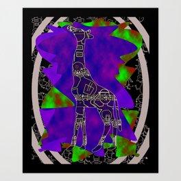 Tribal Giraffe Art Print