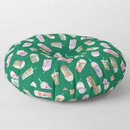 Coffee Crazy Toss in Green Floor Pillow