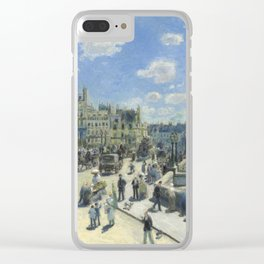 Auguste Renoir Pont Neuf, Paris 1872 Painting Clear iPhone Case