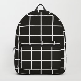 Simple black and white grid   Backpack