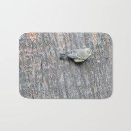 TEXTURES -- Warbler on Palm Bark Bath Mat