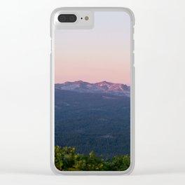 Purple Sierra Nevadas at Sunset Clear iPhone Case