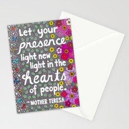 Let Your Presence Light New Light Stationery Cards