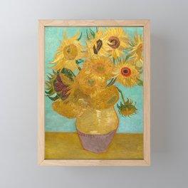 Van Gogh - Sunflowers - Vase with Twelve Sunflowers Framed Mini Art Print