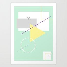 Geometric Calendar - Day 2 Art Print