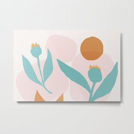 Abstraction_Floral_Minimalism_Beautiful_Day Metal Print