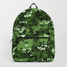 Harlequin Green Popular Multi Camo Pattern Backpack
