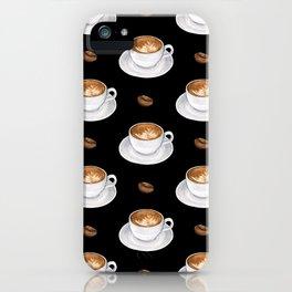Cappuccino - black iPhone Case