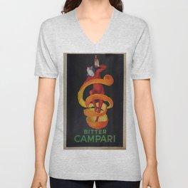 Vintage poster - Bitter Campari Unisex V-Neck