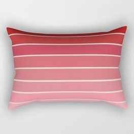 Gradient Arches - Pink / Red Tones Rectangular Pillow