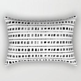 Black and White Squares Rectangular Pillow