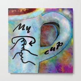 ASL My Coffee Cup Metal Print