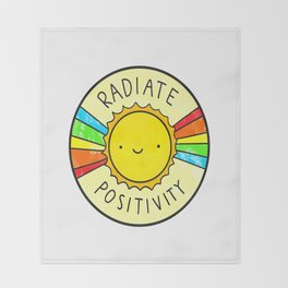 positivity Throw Blanket