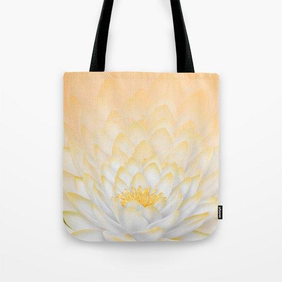 White Peach Lotus Tote Bag