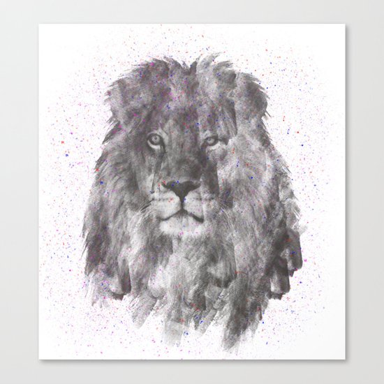Lion Just Wants to have Fun Canvas Print