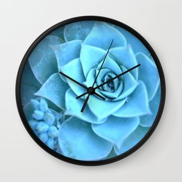 Blue Grain Wall Clock