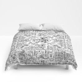 Mayan Spring B&W Comforters