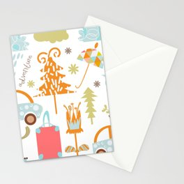 Travl patter 4b Stationery Cards