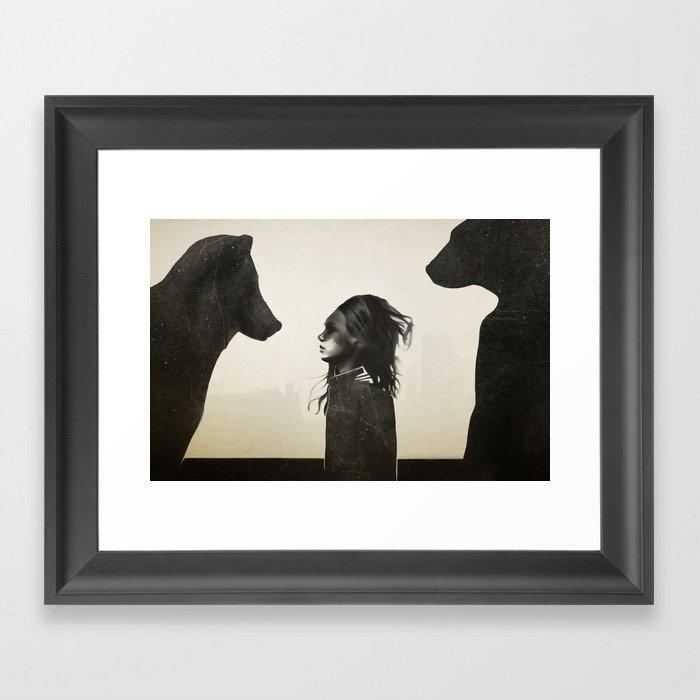 Unusual Encounter Framed Art Print