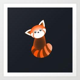 Curious Red Panda Art Print