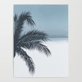 Palm and Ocean Poster