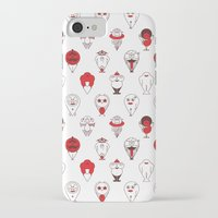 calendar iPhone & iPod Cases featuring Calendar monsters by Nika Belova