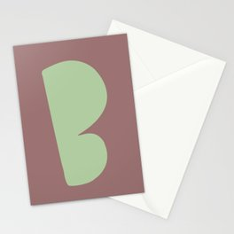 Hand-Lettered B Art Print Stationery Cards