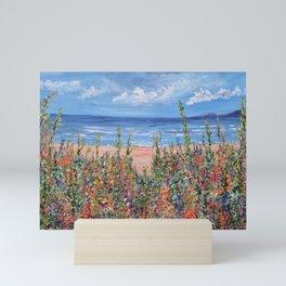 Summer Beach, Impressionism Seascape Mini Art Print