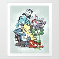 Bear Pile Art Print