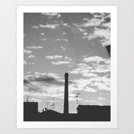 Black And White Chimney Art Print
