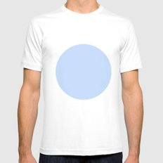 blue circle Mens Fitted Tee MEDIUM White