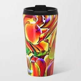 Twisted Tulips Metal Travel Mug