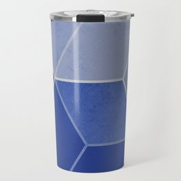 Navy Blue Composition 1 Travel Mug