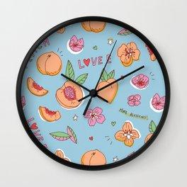 Just Peachy! Wall Clock
