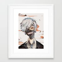 tokyo ghoul Framed Art Prints featuring tokyo ghoul print by Lawey